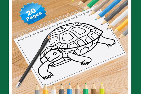20 Turtles Coloring Pages for Kids Graphic Coloring Pages & Books Kids By Coloring World