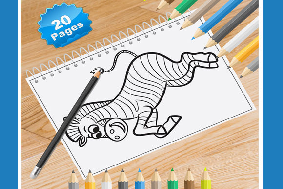 20 Zebra Coloring Pages for Kids Graphic Coloring Pages & Books Kids By Coloring World