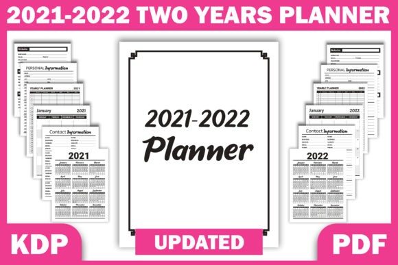 Print on Demand: 2021 2022 Two Years Planner | KDP Graphic KDP Interiors By Fayne