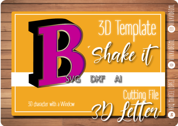 Print on Demand: 3D Letter with Window: B Grafik 3D SVG von Marcel de Cisneros
