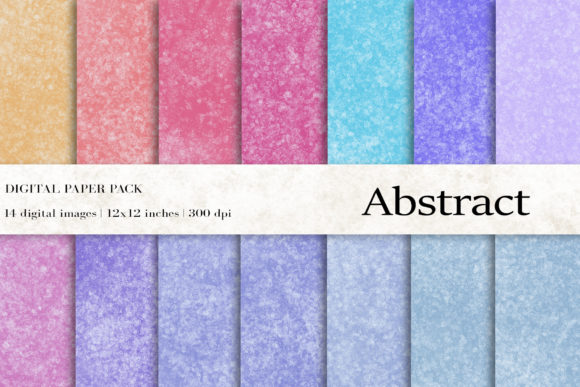 Abstract Watercolor Digital Papers Graphic Textures By BonaDesigns
