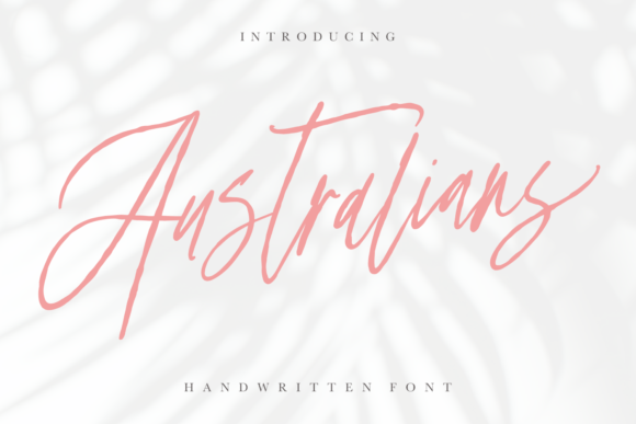 Print on Demand: Australians Script & Handwritten Font By Geranium.co