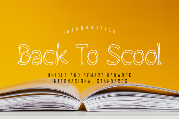 Print on Demand: Back to Scool Script & Handwritten Font By giatstudios