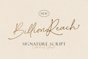 Print on Demand: Billion Reach Script & Handwritten Font By letterhend