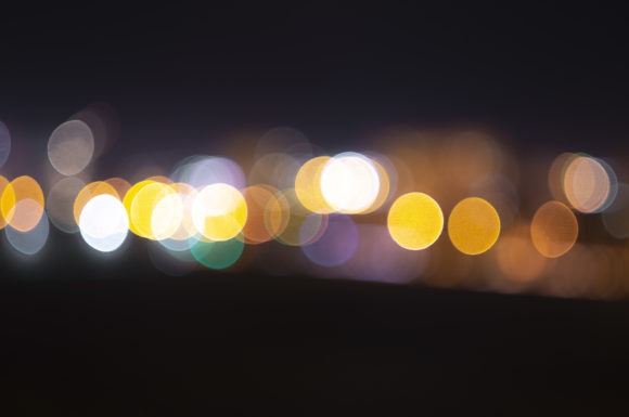 Print on Demand: Blurred Lights of the Night Graphic Abstract By Кирилл Белый