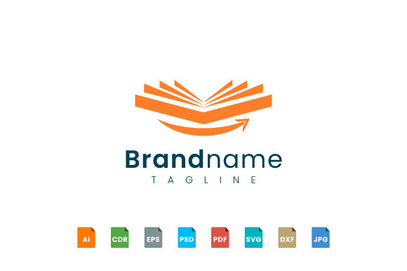 Book Logo Design Opens with a Smile Graphic Logos By murnifine