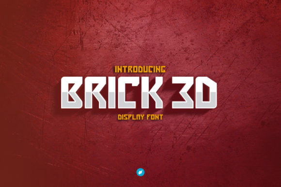 Print on Demand: Brick 3D Display Font By WAP