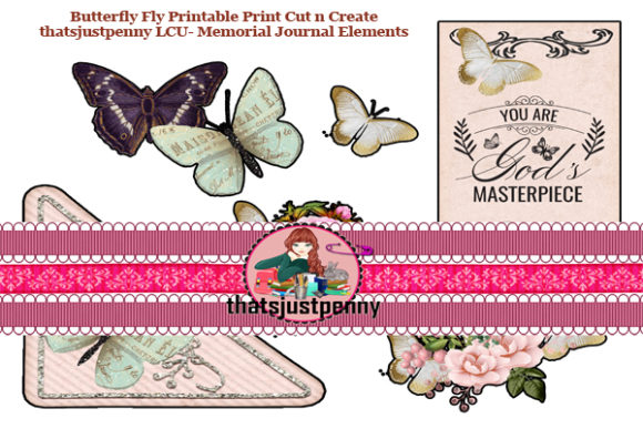 ButterflyFly Journal Elements Memorial Graphic Crafts By thatsjustpenny
