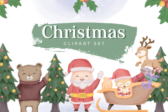 Christmas Collection Set Graphic Illustrations By alolieli