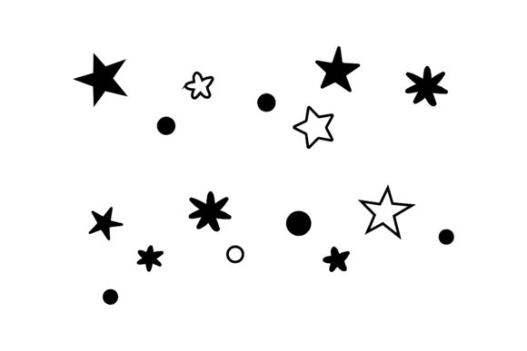 Christmas Decoration Stars Patterns Graphic Patterns By 1riaspengantin