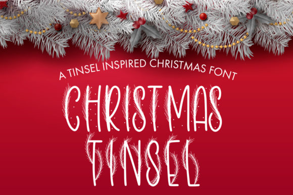 Print on Demand: Christmas Tinsel Decorative Font By freelingdesignhouse