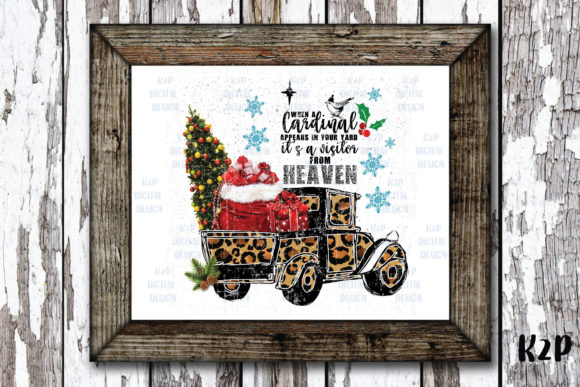 Print on Demand: Christmas Truck Leopard Cardinal Graphic Crafts By KtwoP