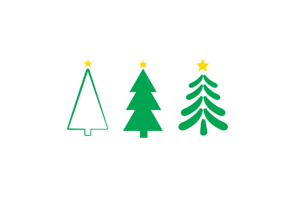Christmas Tree Set Illustrations Vector Graphic Illustrations By 1riaspengantin