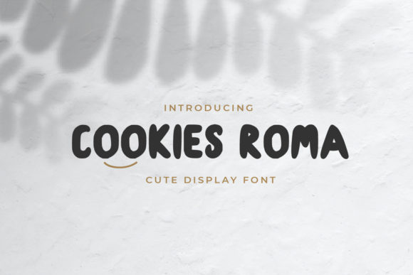 Print on Demand: Cookies Roma Display Font By OKEVECTOR