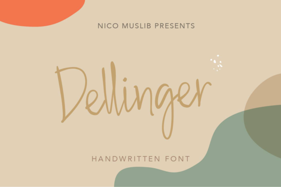 Print on Demand: Dellinger Script & Handwritten Font By Nico Muslib