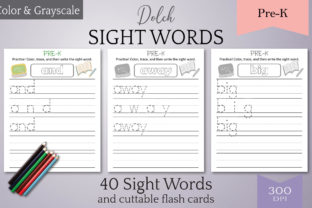 Print on Demand: Dolch Sight Words Tracing: Pre-K Graphic Teaching Materials By Digital to Art 1