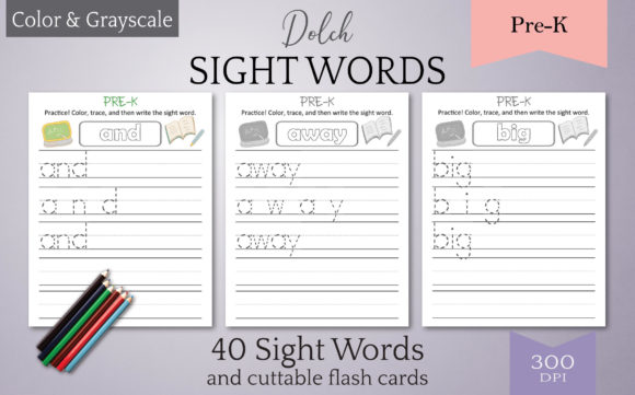 Print on Demand: Dolch Sight Words Tracing: Pre-K Graphic Teaching Materials By Digital Town
