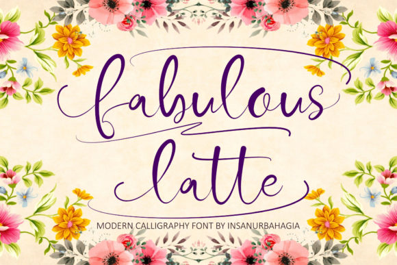 Print on Demand: Fabulous Latte Script & Handwritten Font By insanurbahagia