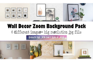 Print on Demand: Gallery Wall Art, Zoom Background Pack, Graphic Photos By DigitalPrintableMe
