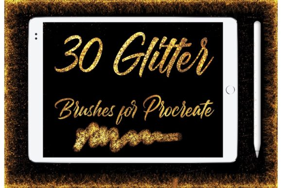 Glitter Brushes for Procreate Graphic Brushes By Dishanti Art