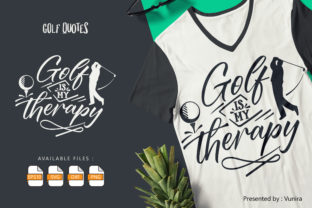 Print on Demand: Golf is My Therapy Graphic Crafts By Vunira