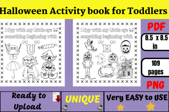 Halloween Activity Book for Toddlers Graphic KDP Interiors By Wiss_Tips designs