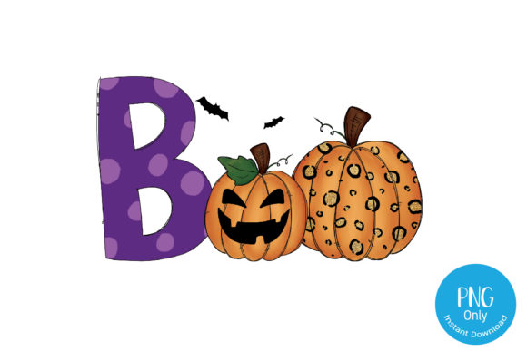 Print on Demand: Halloween Boo Design - Sublimation Graphic Crafts By Tori Designs