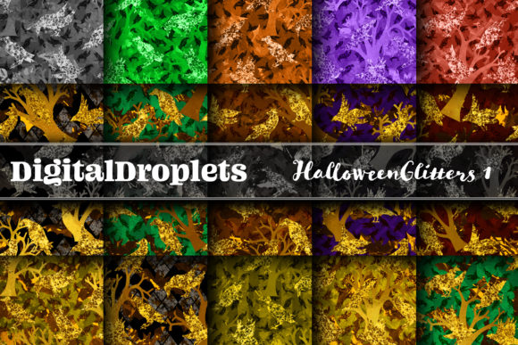 Halloween Glitters 1 Graphic Backgrounds By digitaldroplets