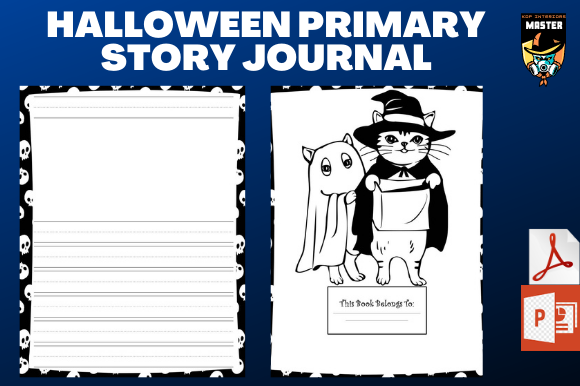 Print on Demand: Halloween Primary Story Journal (KDP) Graphic KDP Interiors By KDP_Interiors_Master