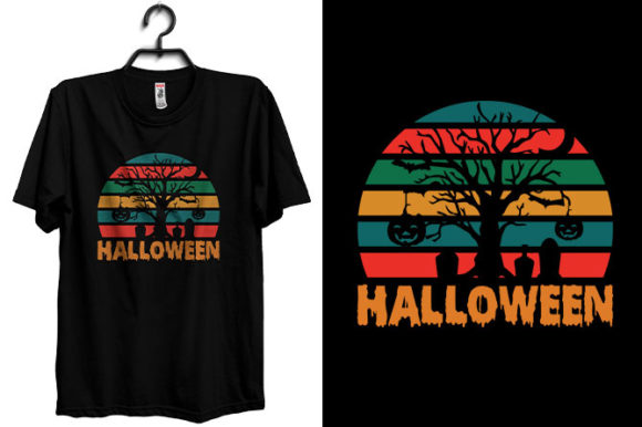 Halloween T-shirt Design Vintage Style Graphic Print Templates By Storm Brain