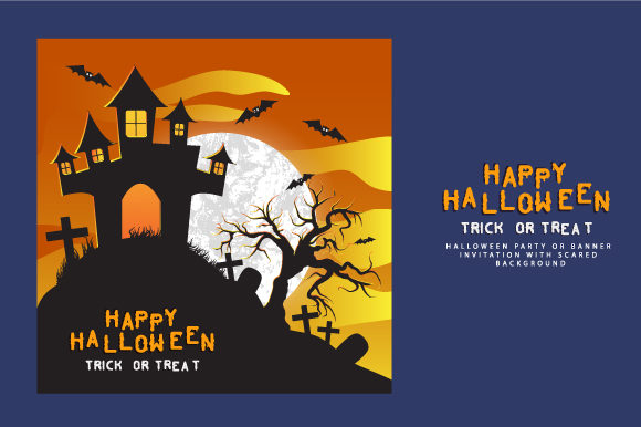 Happy Halloween Scary Graphic Backgrounds By Bewalrus