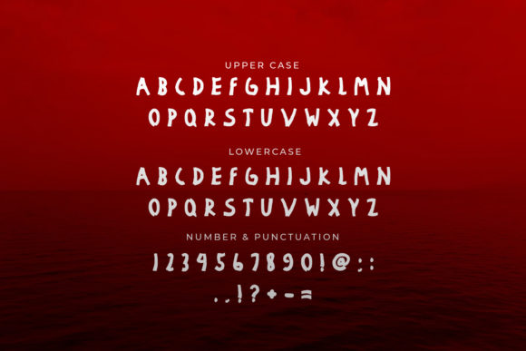Heavily Damaged Font Preview