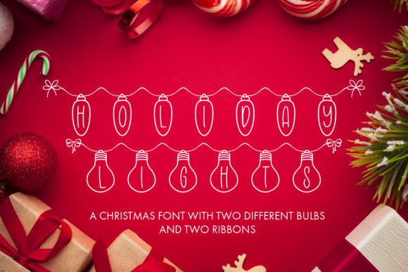 Print on Demand: Holiday Lights Decorative Font By freelingdesignhouse