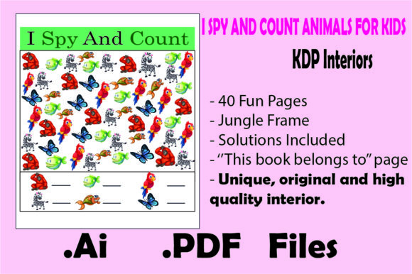 Print on Demand: I Spy and Count Animals for Kids Graphic KDP Interiors By KDP_Interior_101