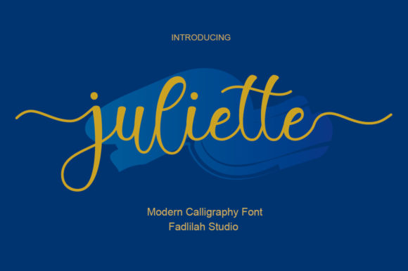 Print on Demand: Juliette Script & Handwritten Font By Fadlilah Studio