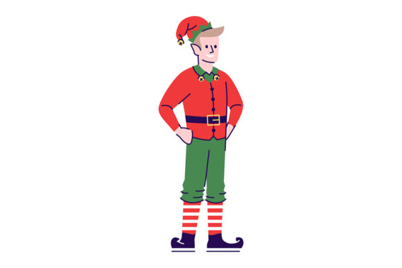 Print on Demand: Man Wearing Elf Costume Illustration Graphic Illustrations By bsd studio