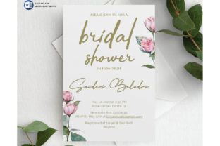 Microsoft Word Printable Bridal Shower I Grafik Druck-Templates von ivanjoys19