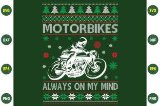 Print on Demand: Motorbike Always on My Mind Ugly Sweater Graphic Crafts By BDB_Graphics