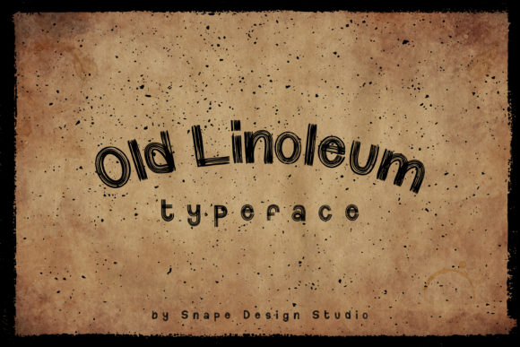 Print on Demand: Old Linoleum Display Font By snapedsgn