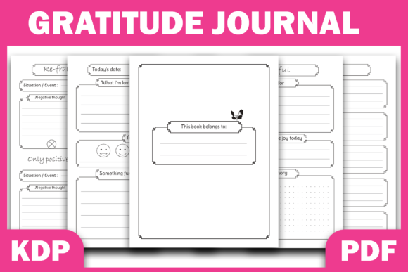 Print on Demand: Positivity Diary & Gratitude Journal KDP Graphic KDP Interiors By Fayne