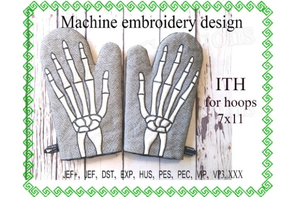 Potholder Design - in the Hoop Kitchen & Cooking Embroidery Design By ImilovaCreations