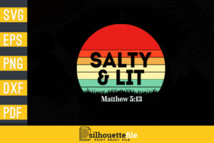 Print on Demand: Salty and Lit Graphic Crafts By Silhouettefile