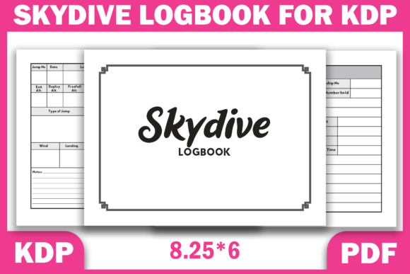 Print on Demand: Skydive Logbook Ready KDP Interior PDF Graphic KDP Interiors By Fayne