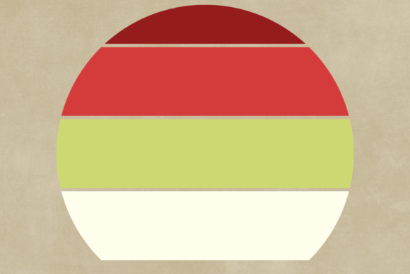 Print on Demand: Striped Retro Sunset Christmas Edition Graphic Backgrounds By atlasart