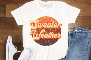 Print on Demand: Sweater Weather Sublimation Design Graphic Crafts By FauzIDEAStudio