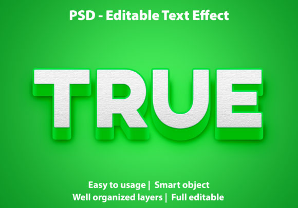 Text Effect Green True Premium Graphic Graphic Templates By yosiduck