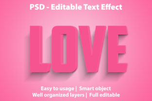 Print on Demand: Text Effect Love Premium Graphic Graphic Templates By yosiduck