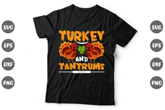 Print on Demand: Thanksgiving Design, Turkey and Tantrums Graphic Print Templates By Graphics Home.net