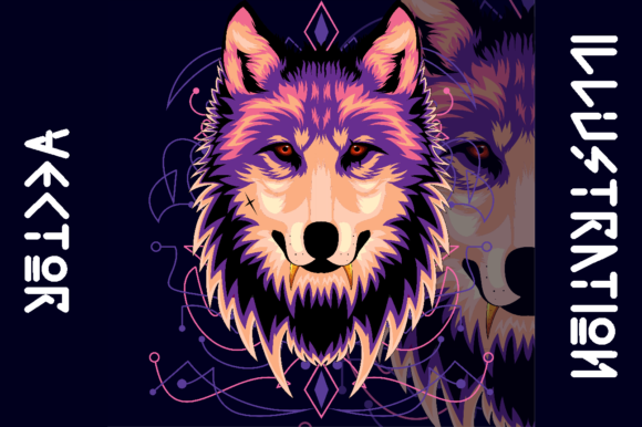 Print on Demand: WOLF VINTAGE Graphic Illustrations By AP