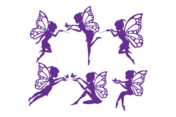 Print on Demand: Fairy Silhouette Graphic Illustrations By curutdesign
